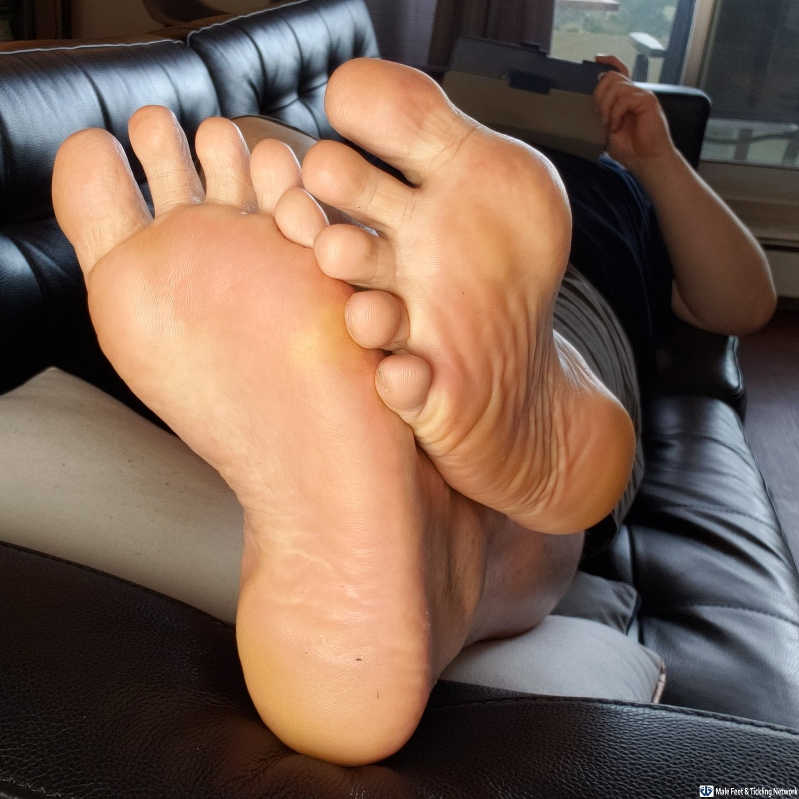 Men with feet fetish